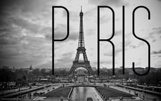 Black And White Paris Wallpaper