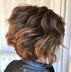 Curly Bob with Razored Layers