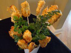 Parmesan Chicken Pops    Recipe~http://www.justapinch.com/recipes/main-course/chicken/parmesan-chicken-pops.html?p=4