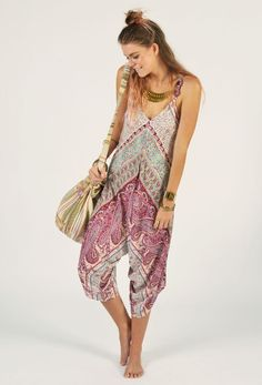 Harem Summer Paisley Jumpsuit. I could live in this! Via The Freedom State.