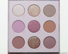 #Swatches: #ColourPop All Things Equinox Palette Beauty Review, Equinox, All Things, Lilac, Swatch, Makeup Looks, Palette, Eyeshadow, Coffee