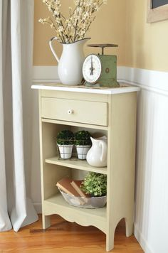Easy Farmhouse Cabinet Makeover. Remove door & paint w chalk paint