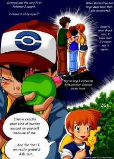 Pokemon Ash And Misty, Ash And Dawn, Pokemon Adventures Manga, Satoshi Tajiri, Ash Ketchum, Remember The Time, Pokemon Funny, Beautiful Stories, Funny Comics