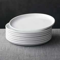 Shop Set of 8 Logan Stacking Dinner Plates. Designed to stack, Logan dinnerware makes the most of kitchen storage with a modern, classic look that segues from casual to elegant. Dinnerware Sets For 8, Modern Dinnerware, Porcelain Dinnerware, Crate And Barrel, Barrel Bar, Logan, Dinner Plate Sets, Modern Dinner Plates, White Plates