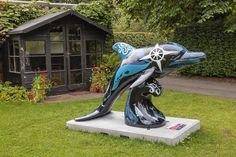 Sponsor: University of Aberdeen. Trail Location: Cruickshank Botanical Garden, University of Aberdeen. Dolphin Art, Ocean Creatures, Orcas, Cross Stitch Kits, Virginia Beach, Whales, Public Art, Conservation, Scotland