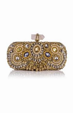 Sigh. Dreamy. - Marchesa Lily Medium Embroidered Crystal Clutch ($2,995.00)