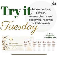 RE9 Advanced - Arbonne's #1 #skincare system   Improves the appearance of #skin firmness elasticity and tone  minimizes the appearance of fine lines and #wrinkles  improves hydration  helps skin look visibly rejuvenated and youthful  PM me for a sample to experience the difference for yourself. What have you got to lose (well besides a few wrinkles ) #antiaging #vegan #healthy #glutenfree #plantbased #tryittuesday