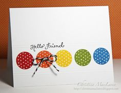 CFC56 - create a card using polka dots!