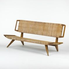 PAUL LASZLO    settee    Glen of California  USA, 1950  teak, caning  32 w x 60 d x 26 h inches