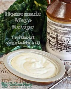gonna try this - have recently realized that even my most healthy vegannaise is full of veggie oil that is totally unhealthy and commercial mayo is pure crap. Homemade Mayo Recipe without vegetable oils Healthy Mayonnaise Recipe Low Carb Recipes, Real Food Recipes, Cooking Recipes, Healthy Recipes, Healthy Cooking, Bulk Cooking, Candida Recipes, Healthy Oils, Primal Recipes