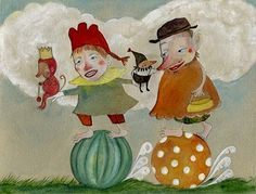 Watercolor collage by Lisa Kaser
