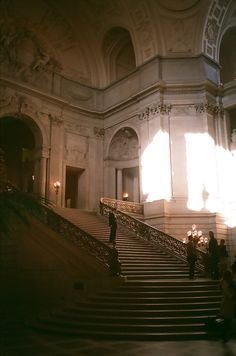 Théâtre Des Vampires: (San Francisco City Hall by Josh Blank) Beautiful Architecture, Beautiful Buildings, Art And Architecture, Beautiful Places, Classical Architecture, Foto Fantasy, Foto Gif, Stairway To Heaven, Aesthetic Pictures