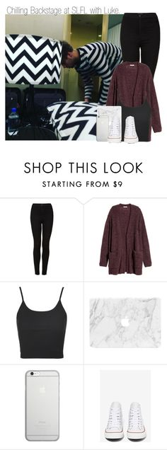 """Chilling Backstage at SLFL with Luke. (Luke's Girlfriend)"" by indiehxrry ❤ liked on Polyvore featuring Topshop, H&M, Native Union and Converse"