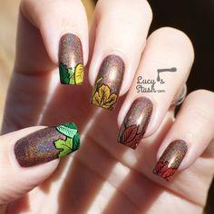 70 Fotos de uñas decoradas para el otoño – Autumn nail art   Decoración de Uñas - Manicura y Nail Art
