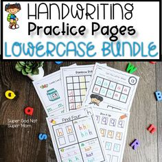 Handwriting Practice Worksheets, Handwriting Alphabet, Preschool Math, Literacy Activities, Kindergarten, Rainbow Writing, Letters For Kids, Letter Of The Week, Tracing Letters