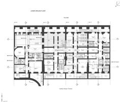 Lower Ground Floor Plans To 13-16 Carlton House Terrace In London, England
