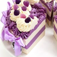 Black Raspberry and Vanilla Soap Cake Slice - 250-290g