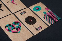 Illustrated Business Cards, business card, graphic design, visual identity, patterns, vintage, retro