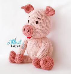 Bob the Piggy amigurumi crochet pattern by Lovely Baby Gift