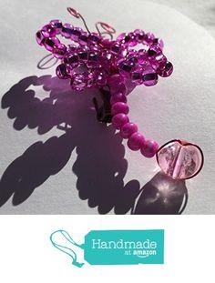 Pink Sparkling Bead Dragonfly Brooch https://www.amazon.com/dp/B01ICB5VUW/ref=hnd_sw_r_pi_dp_ChxHxbB9AG8HM #handmadeatamazon