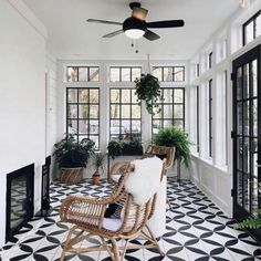 """Kenowa Builders on Instagram: """"Because black and white are classic for a reason. This is the sunroom renovation we did, as part of this whole house remodel with…"""""""