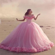 Romantic Off Shoulder Pink Wedding Dresses 2016 Long Tulle Plus Size Vestido De Noiva Summer Puffy Ruffle Ball Gown Bridal Gowns With Flower Halter Ball Gown Wedding Dresses Modest Ball Gown Wedding Dresses From Cc_bridal, $160.81| Dhgate.Com