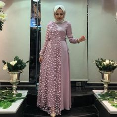 Image may contain: 1 person standing and indoor Source by dresses hijab Hijab Evening Dress, Hijab Dress Party, Hijab Style Dress, Dress Outfits, Muslim Fashion, Hijab Fashion, Fashion Dresses, Stylish Dresses, Casual Dresses