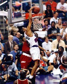 Kevin Johnson dunks Hakeem Olajuwon