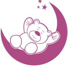 Teddy bear wall decal No15 Sleeping on the Moon