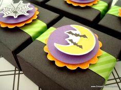 Black Halloween Party Favor Boxes, Set of Ten
