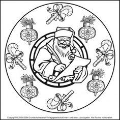 Christmas mandala coloring pages Mandalas Pinterest Mandala