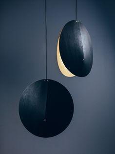 O Pendant lamp - Adea - Lighting design - Studio Finna — Studio Finna Industrial Lighting, Cool Lighting, Interior Lighting, Lighting Design, Pendant Lighting, Lighting Ideas, Ikea Industrial, Industrial Shop, Industrial Bookshelf