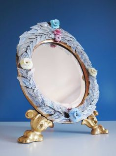 Excepcional espejo antiguo de cristal de Murano. Siglo XIX. de elNidosingular en Etsy
