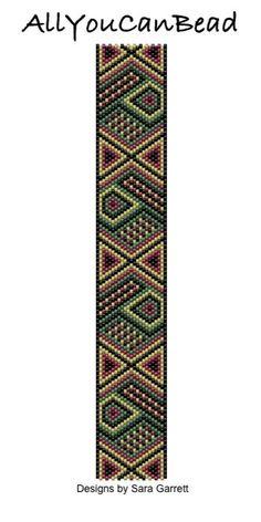 Peyote Bracelet Pattern 005 Bead Weaving INSTANT DOWNLOAD PDF