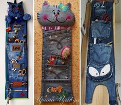 I would like to make this for my two little princess. Diy Jeans, Recycle Jeans, Jean Crafts, Denim Crafts, Diy And Crafts, Fabric Crafts, Sewing Crafts, Sewing Projects, Artisanats Denim