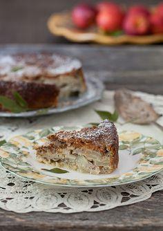 Apple, Lemon Cake with Hazelnuts. Recipe is here:http://www.melangery.com/2013/08/apple-lemon-cake-with-hazelnuts.html #cake, #dessert, #apples, #lemons, #sweet, #hazelnuts