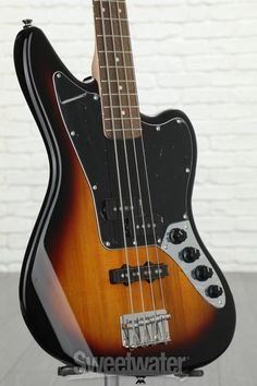 Squier Vintage Modified Jaguar Bass Special - 3-color Sunburst with Indian Laurel Fingerboard image 3