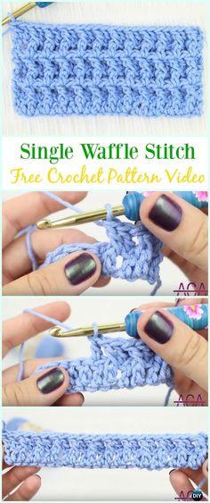 How to Crochet Single WaffleStitchFree Pattern Video