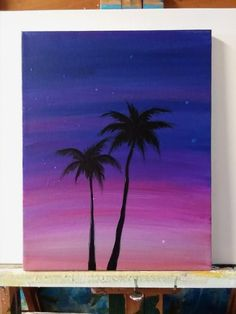 What is Your Painting Style? How do you find your own painting style? What is your painting style? Small Canvas Paintings, Easy Canvas Art, Small Canvas Art, Cute Paintings, Easy Canvas Painting, Simple Acrylic Paintings, Mini Canvas Art, Diy Painting, Sunset Painting Easy
