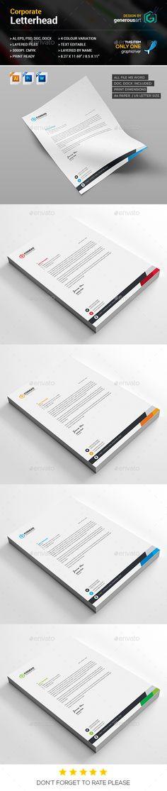 Custom Stationery Design Letterhead Designs Pinterest - letterhead sample in word