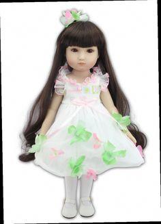 52.53$  Watch now - http://ali6gw.worldwells.pw/go.php?t=32517952471 - 45cm Vinyl Baby Home Doll Newborn Baby Doll lifelike Baby Doll beauty American Girls Doll Girls's brinquedos Christmas gift