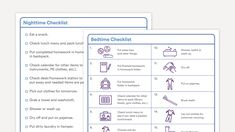 Bedtime Checklists for Kids With Executive Functioning Issues Study Skills, Life Skills, Activities Of Daily Living, Kids Checklist, Behavior Interventions, Autism Sensory, Executive Functioning, Adhd Kids, Learning Disabilities