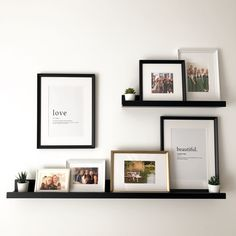 Home Decoration Ideas For Welcome .Home Decoration Ideas For Welcome Ikea Picture Ledge, Picture Ledge Bedroom, Picture Frames On Shelves, Mosslanda Picture Ledge, Gallery Wall Shelves, Shelves With Pictures, Pictures For Bedroom Walls, Living Room Picture Ideas, Photo Ledge Display