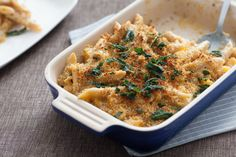 Butternut Squash Mac & Cheese with Crispy Sage. Visit http://www.blueapron.com/ to receive the ingredients.