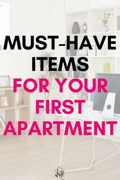 First Apartment Checklist And Ideas Must Haves For Your Place Living On