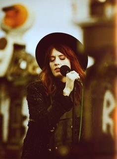 Florence Welch from Florence and the Machine. Know her thanks to HBO trailer of game of thrones