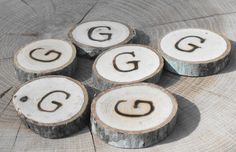 G for Girl  Rustic wood slice confetti Shower Favor, Rustic Party Decoration by OzarkCraftWood on Etsy