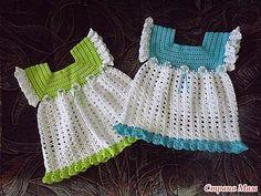 Baby Caprichos: Vestiditos crochet paso a paso