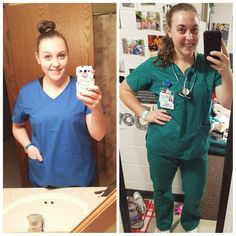 """""""Here's a little flash back for you all, from first day of my CNA clinical in 2013➡ this past semester clinical . . . . . . . #nursing #nursingschool #nmu #northernnaturally #sharenmu #nursingstudent #cna #nurselife #clinicals #ilovenursing #scrubs #906 #mqt"""" 