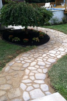 [fan-made]  This fan used the Walk Maker form to create a sidewalk for the yard…